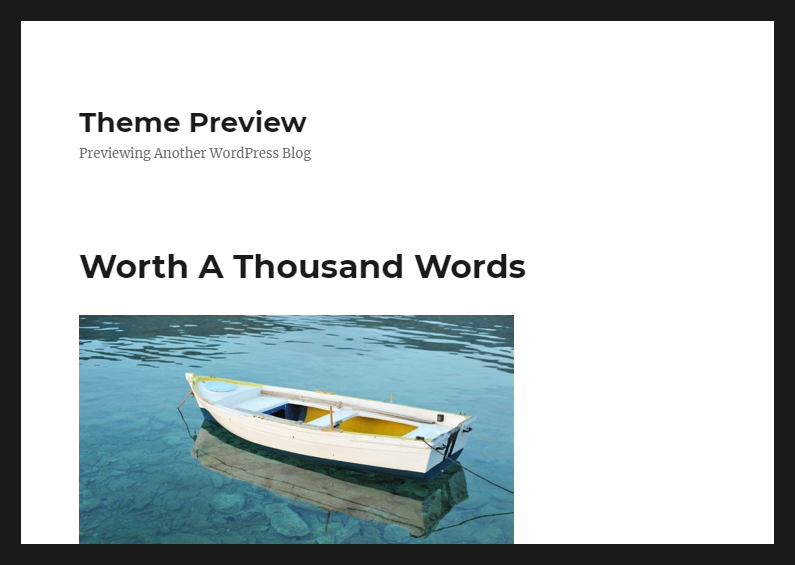 Twenty Sixteen theme preview